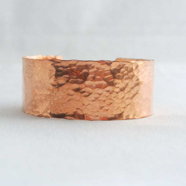 Sheila - Hammered Copper Cuff Bracelet - The Pink Locket - 3