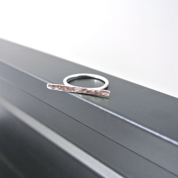 Sterling Silver Bar Stacking Ring - The Pink Locket
