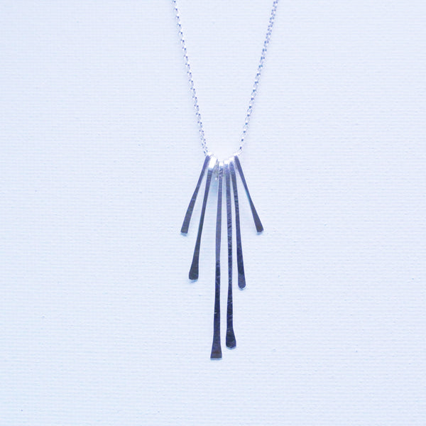 Sterling Silver Spears Pendant Necklace