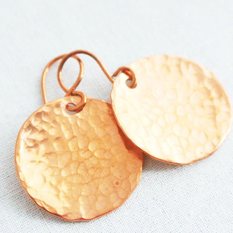 Steel Pan Copper - Dangle Copper Earrings - The Pink Locket