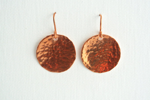 Steel Pan Copper - Dangle Copper Earrings - The Pink Locket - 2
