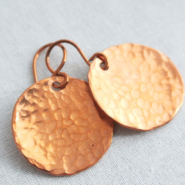Steel Pan Copper - Dangle Copper Earrings - The Pink Locket - 1