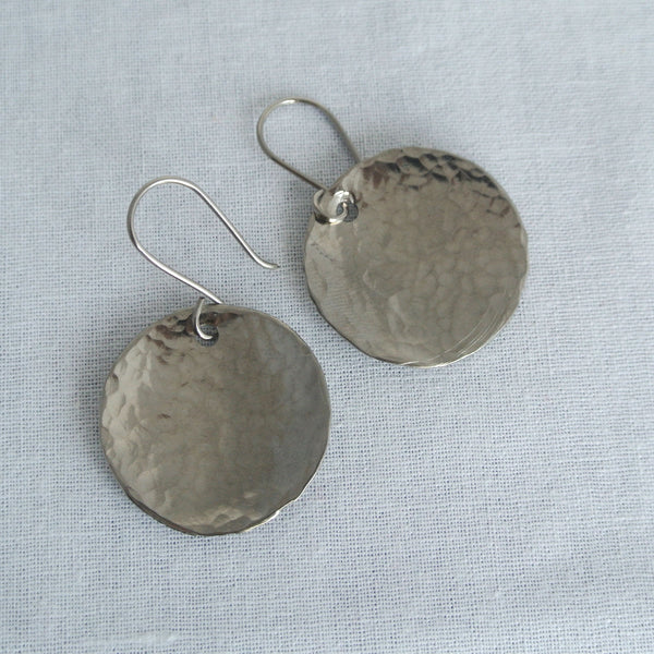 Steel Pan Titanium - Dangle Titanium Earrings - The Pink Locket - 2