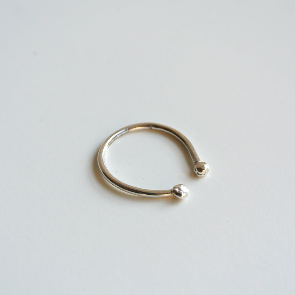 Ball Stacking Sterling Silver Ring
