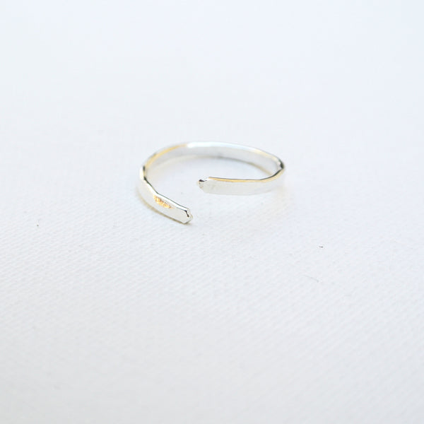 Nia - Sterling Silver Stacking Ring Thin Band - The Pink Locket