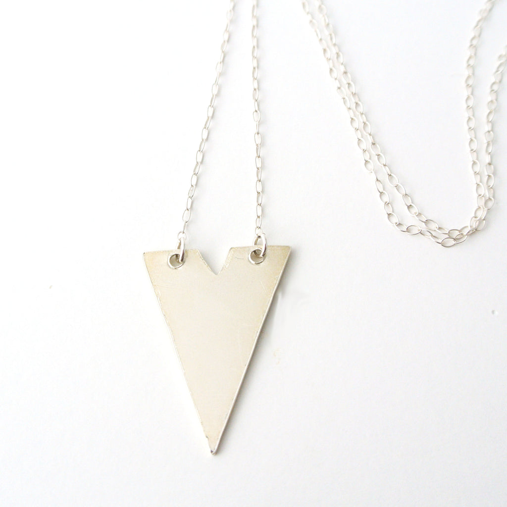 Violet - Sterling Silver Geometric Necklace - The Pink Locket