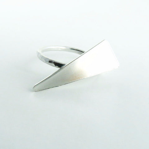 Sterling Silver Statement Triangle Ring 1