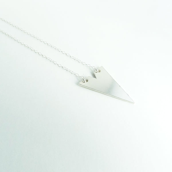 Sterling Silver Geometric Necklace 2