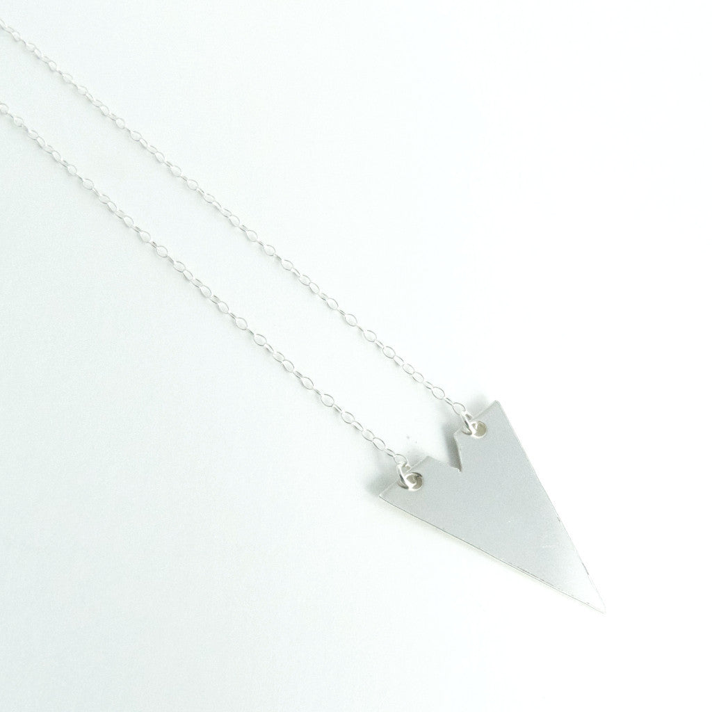Sterling Silver Geometric Necklace 1