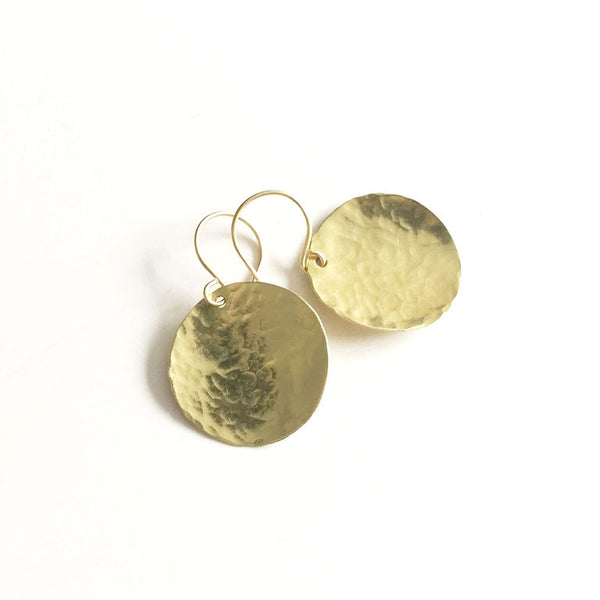 Steel Pan Gold - Dangle Gold Earrings - The Pink Locket - 1
