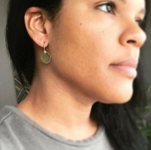Mini Gold Steel Pan Earrings