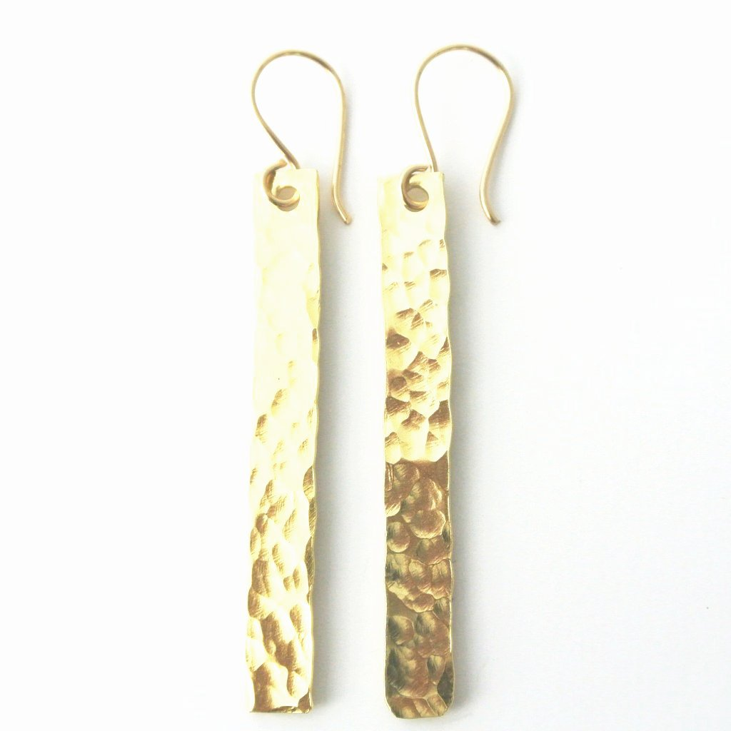 Sophie - Skinny Dangle Gold Earrings - The Pink Locket