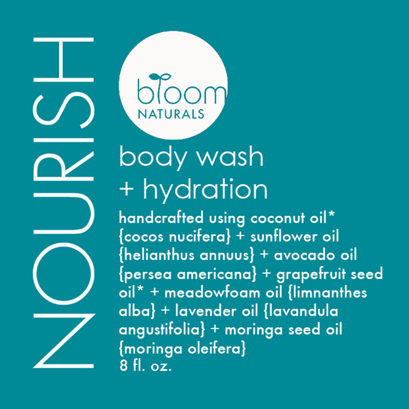 nourish | body wash & hydration 8 oz-body-Bloom Naturals
