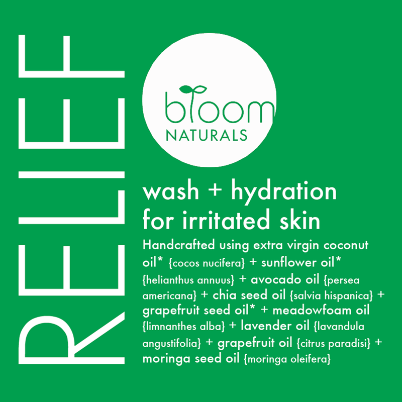 relief | wash & hydration for irritated skin-irritated skin-Bloom Naturals