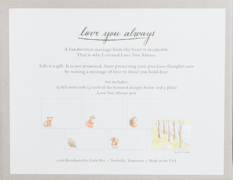 Love You Always Note Card Box