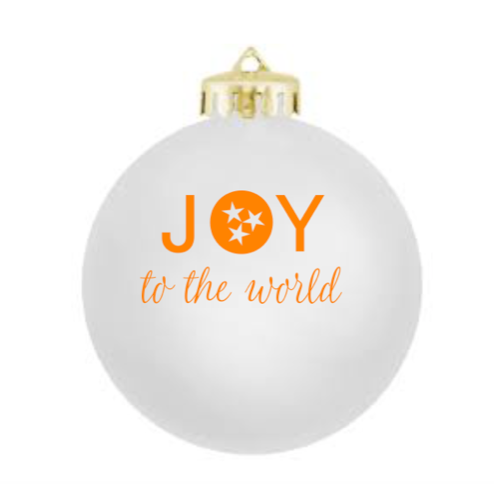 JOY to the world Glass Ornament