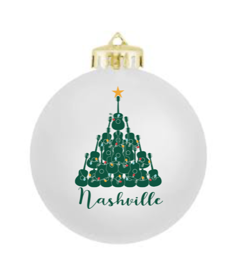 Nashville Glass Ornament