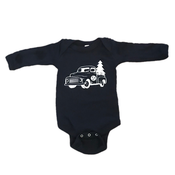 Christmas L/S Onesie: Tennessee Truck