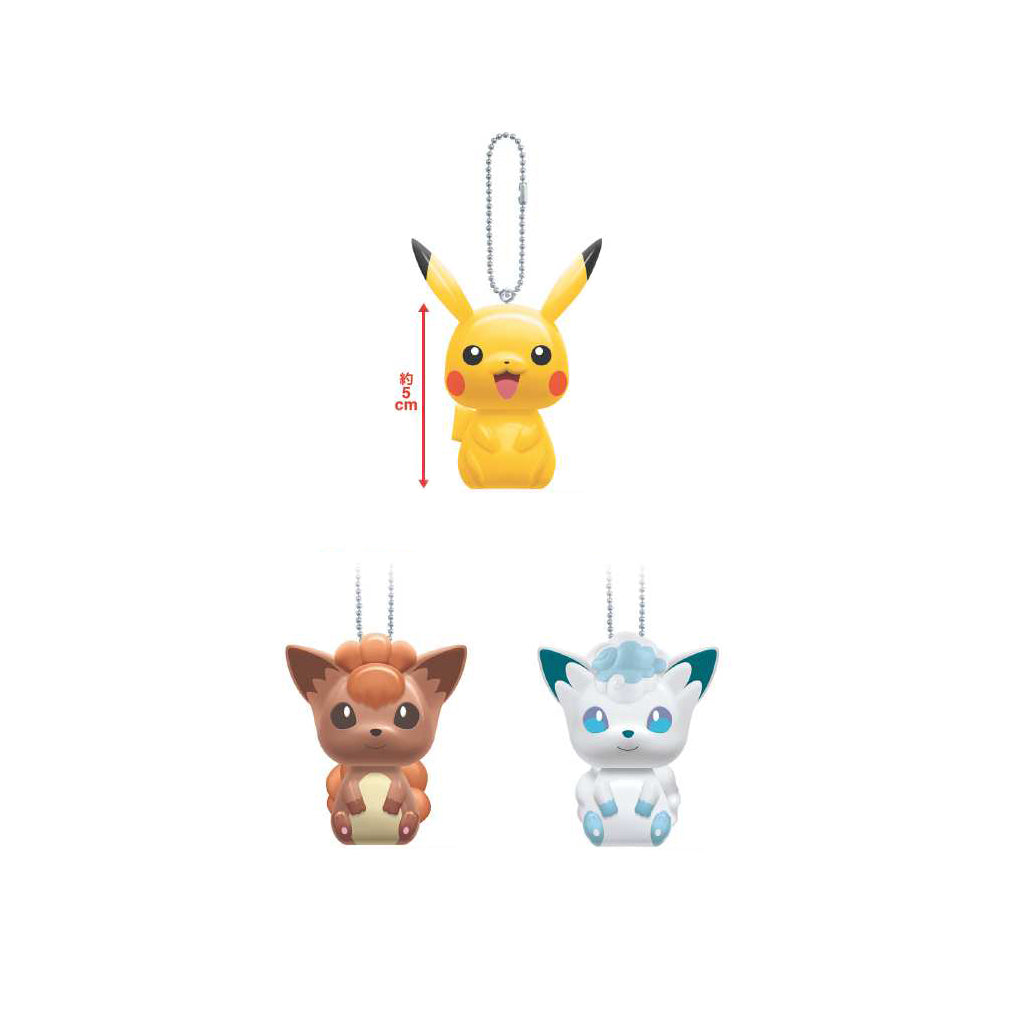 Pokemon Sun & Moon Key Chain-Pikachu・Vulpix・Vulpix(in Alolan form)-
