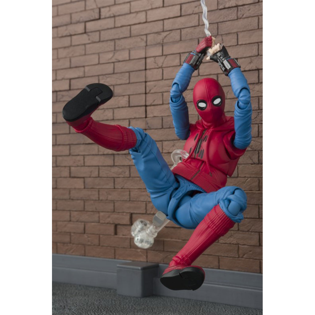 S.H. Figuarts Spiderman Homecoming Home Made Suit Ver With Act Wall