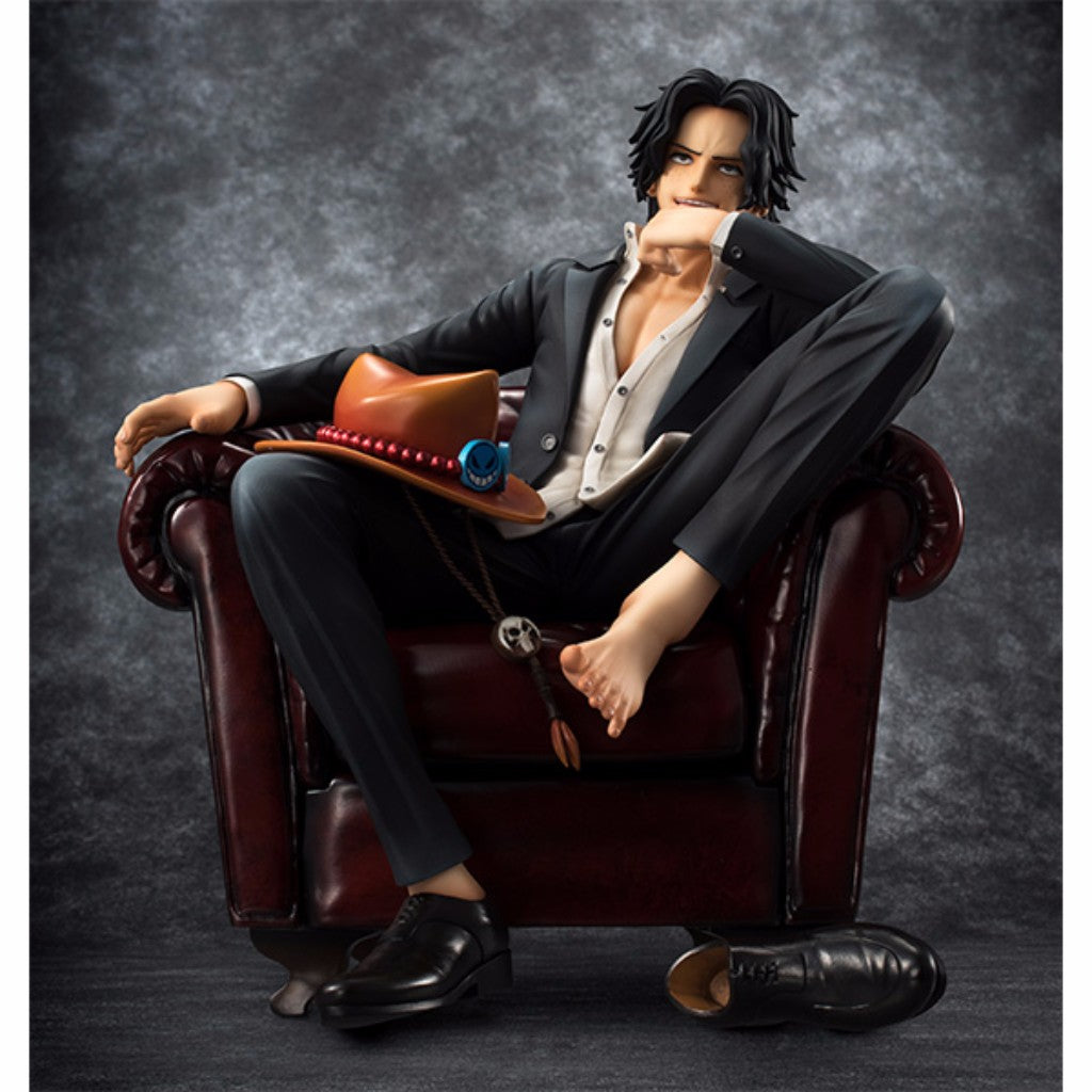 One Piece P.O.P. Portrait Of Pirates S.O.C. - Portgas D Ace MegaTrea Shop Exclusive