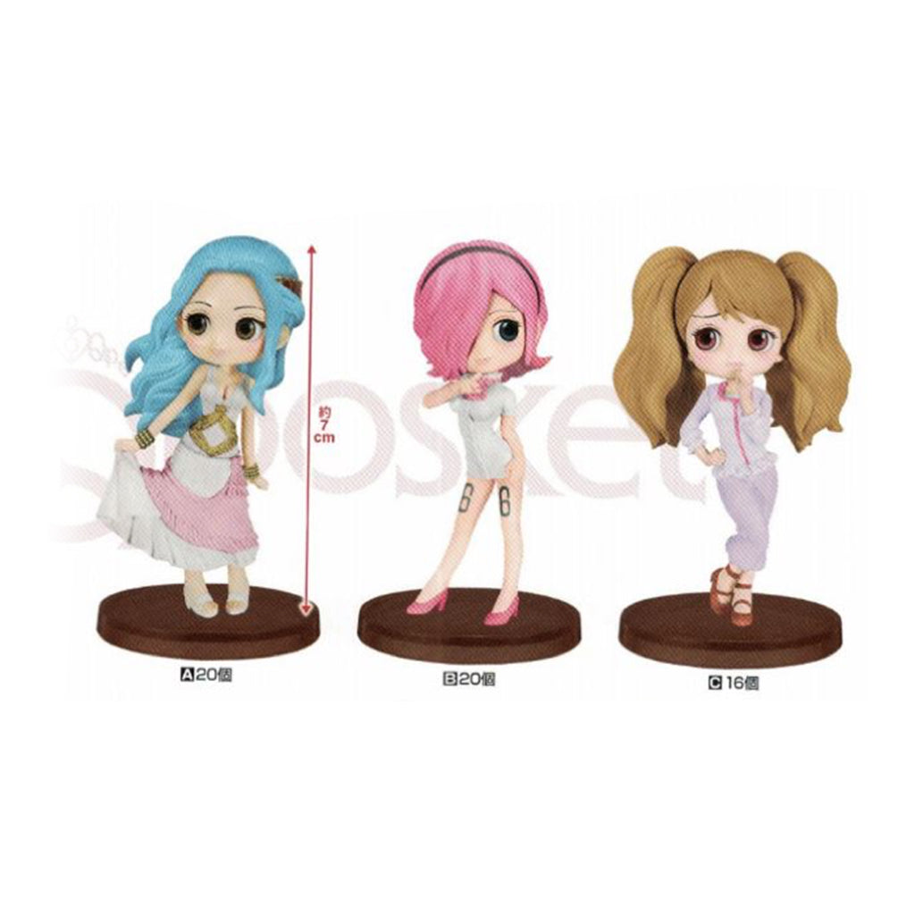 One Piece - Q Posket One Piece Petit Vol.1 - Nefertari Vivi, Reiju Vinsmoke and Charlotte Pudding