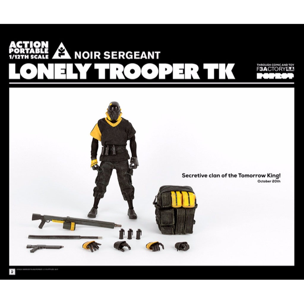 1/12th Scale Collectible Figure Series - Action Portable by F3Actory - Lonely Trooper TK Noir Sergeant (Dark Ver.)