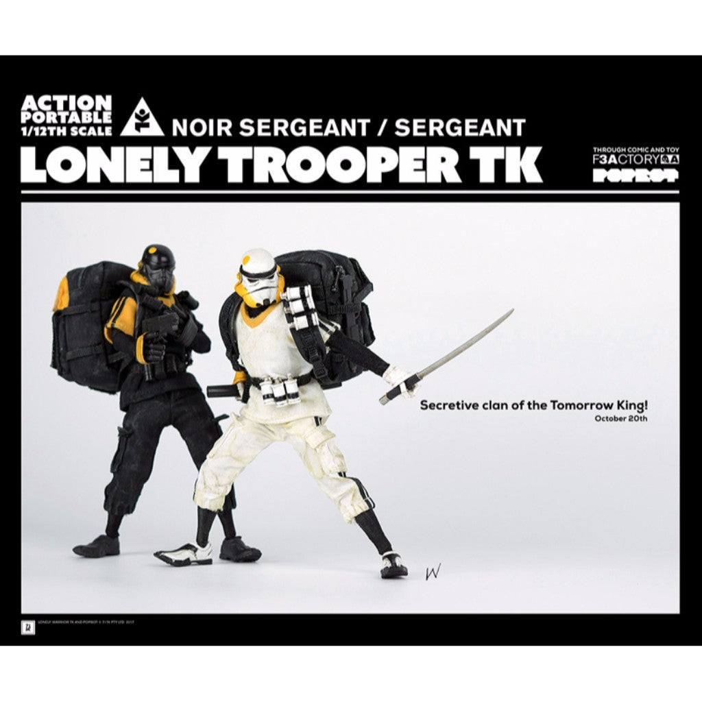 1/12th Scale Collectible Figure Series - Action Portable by F3Actory - Lonely Trooper TK Sergeant (White Ver.)