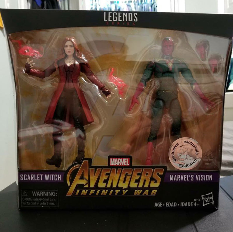 Marvel Legends Series - Avengers: Infinity War - Scarlet Witch & Vision 2 Pack
