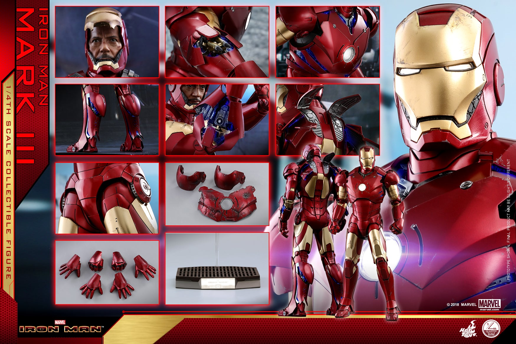 Hot Toys - QS011 - Iron Man - 1/4th scale Mark III