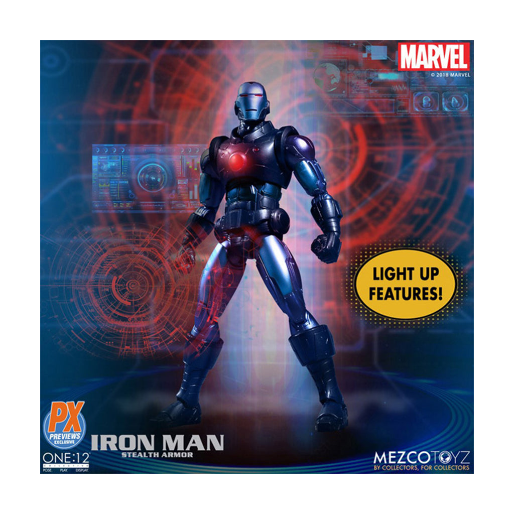 Mezco 1/12 Iron Man Stealth Armor (Previews Exclusive)