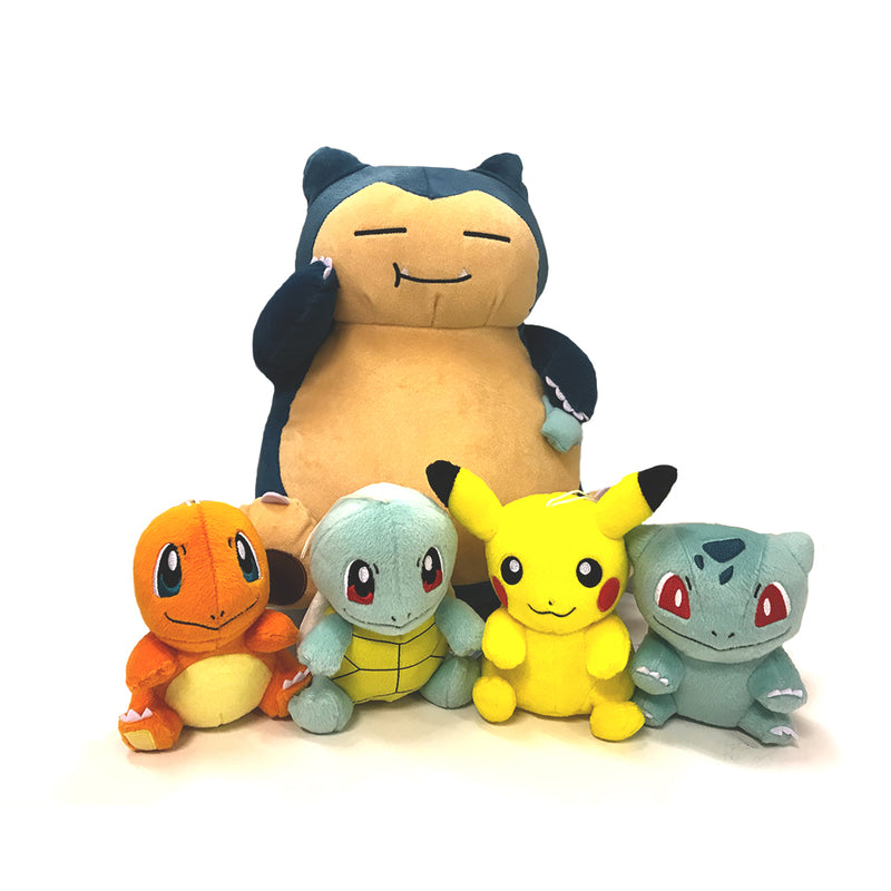 "Banpresto ""Take me With You"" Plushes and Snorlax Munch Time Plush"
