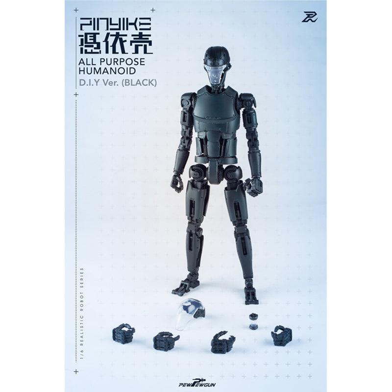 1/6 Realistic Robot Series - PINYIKE All Purpose Humanoid D.I.Y Ver. (Black)