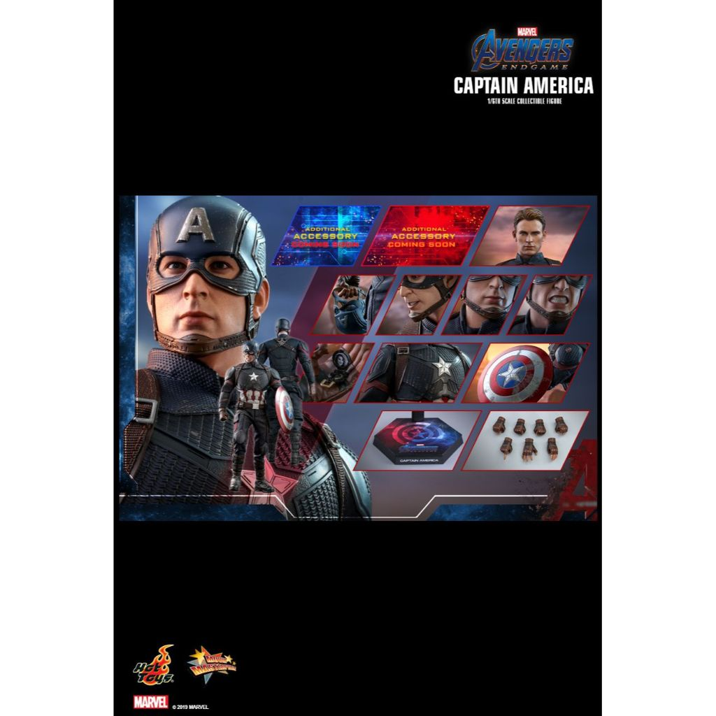 Hot Toys - MMS536 - Avengers Endgame - 1/6th scale Captain America