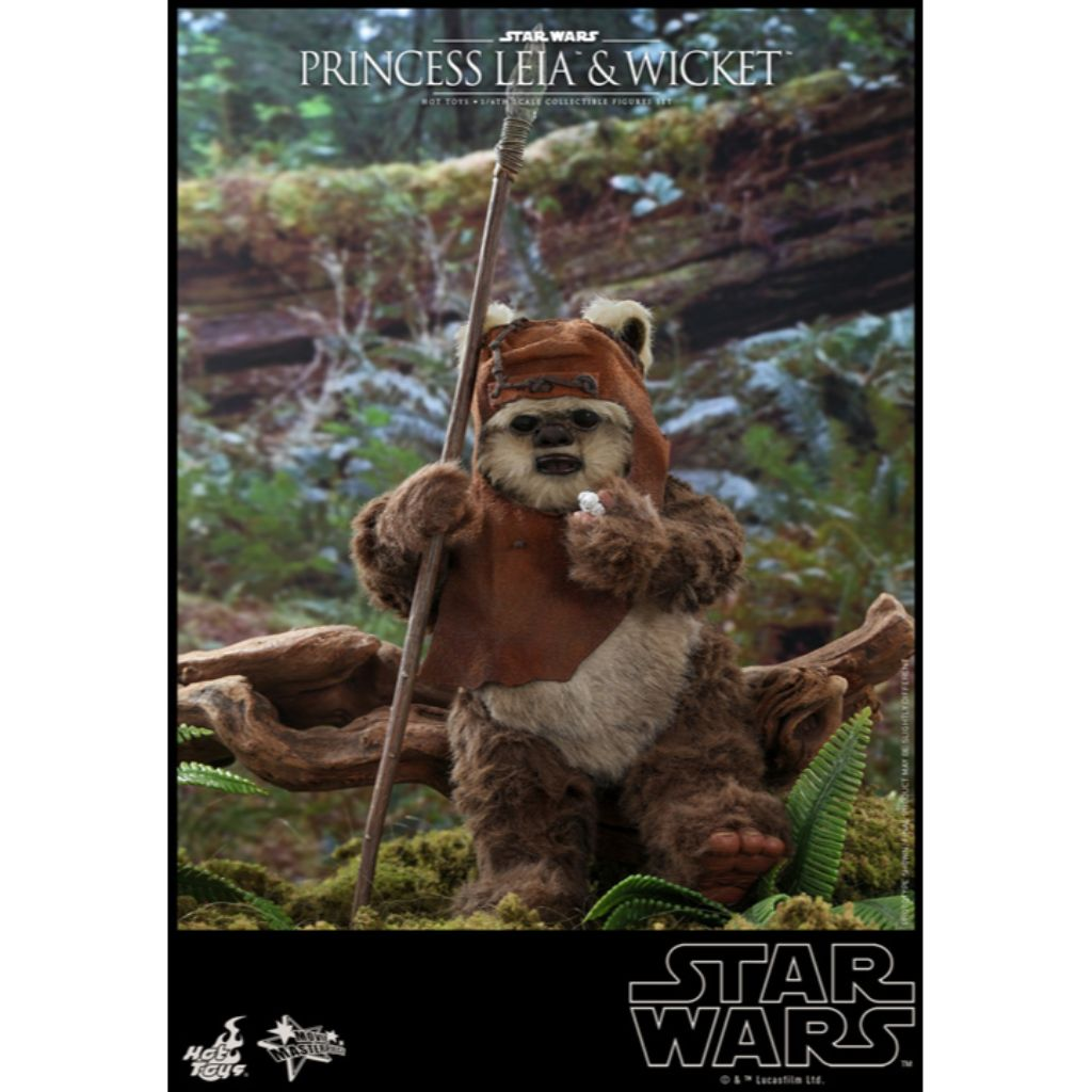 MMS551 - Star Wars: Return of the Jedi - 1/6th scale Princess Leia and Wicket