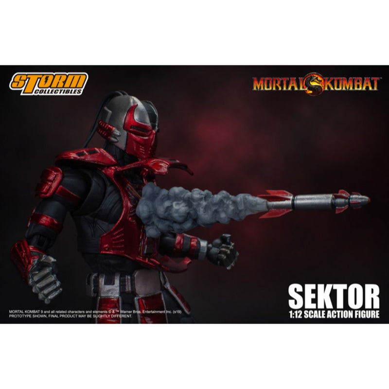 1:12 Scale Action Figure - Mortal Kombat - Sektor