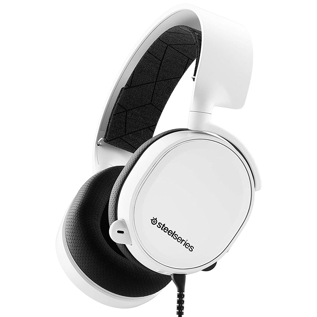 SteelSeries White Arctis 3 Gaming Headset 2019 Edition