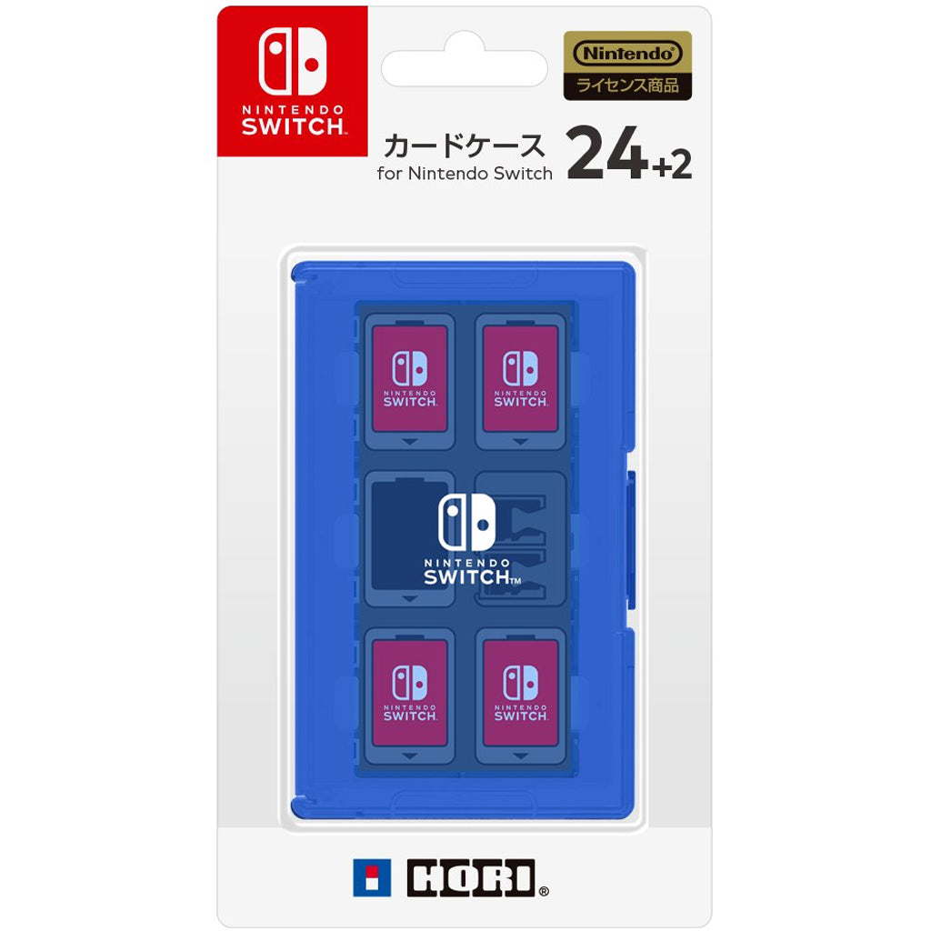 Nintendo Switch HORI Card Case 24+2 Blue (NSW-026)