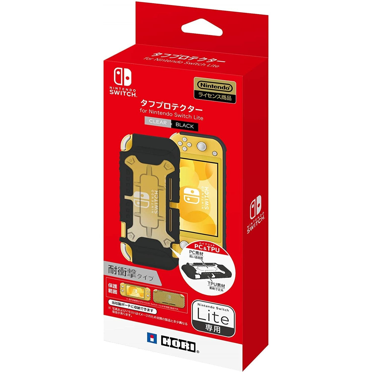 HORI NS2‐028A Tough Case for Nintendo Switch Lite (Clear x Black)