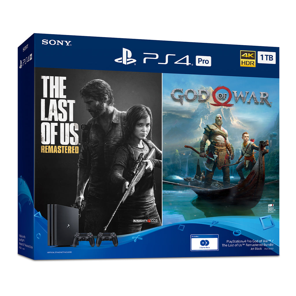 PS4 1TB Pro God of War/The Last of Us Remastered Console Bundle