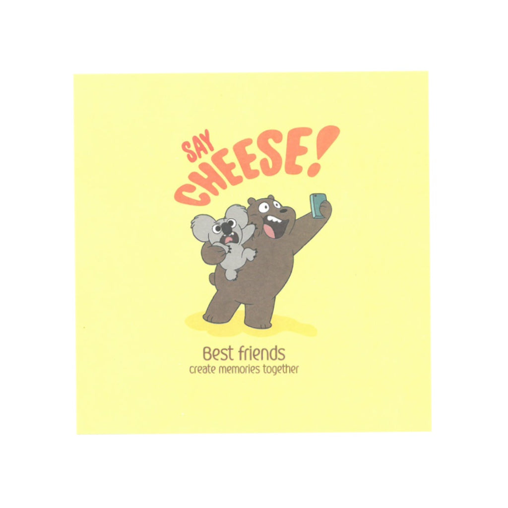 Say Cheese! Greeting Card - The Bare Bears
