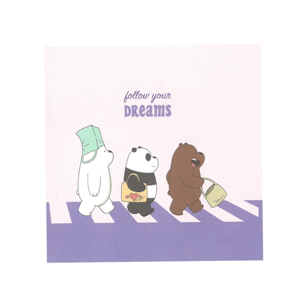 Follow Your Dreams Greeting Card - The Bare Bears