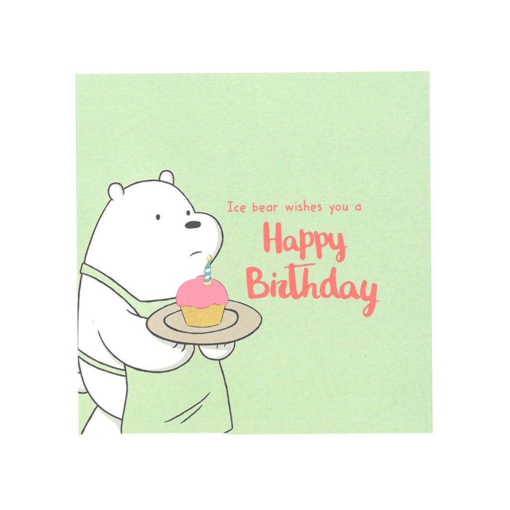 Happy Birthday Greeting Card - The Bare Bears