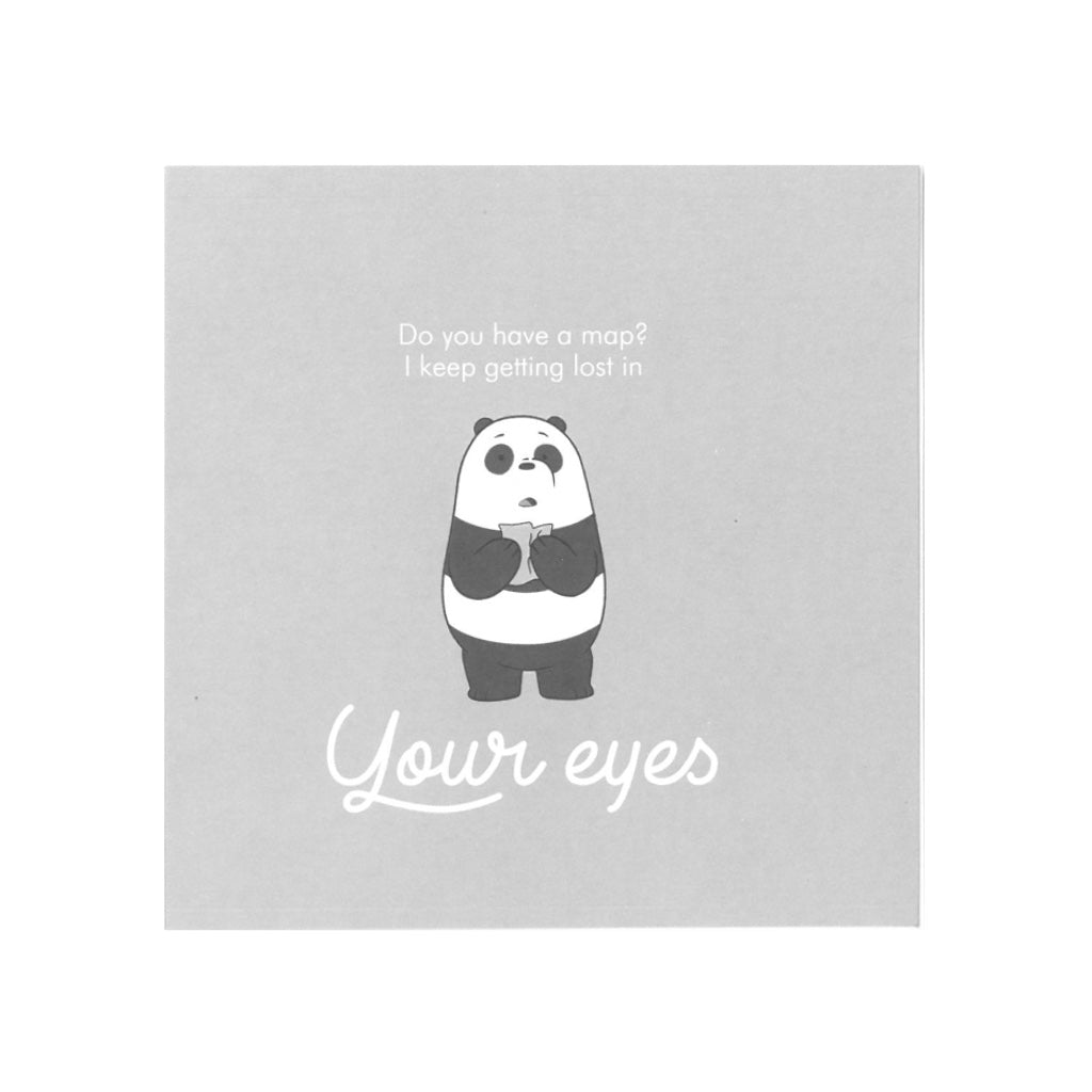 Your Eyes Greeting Card - The Bare Bears