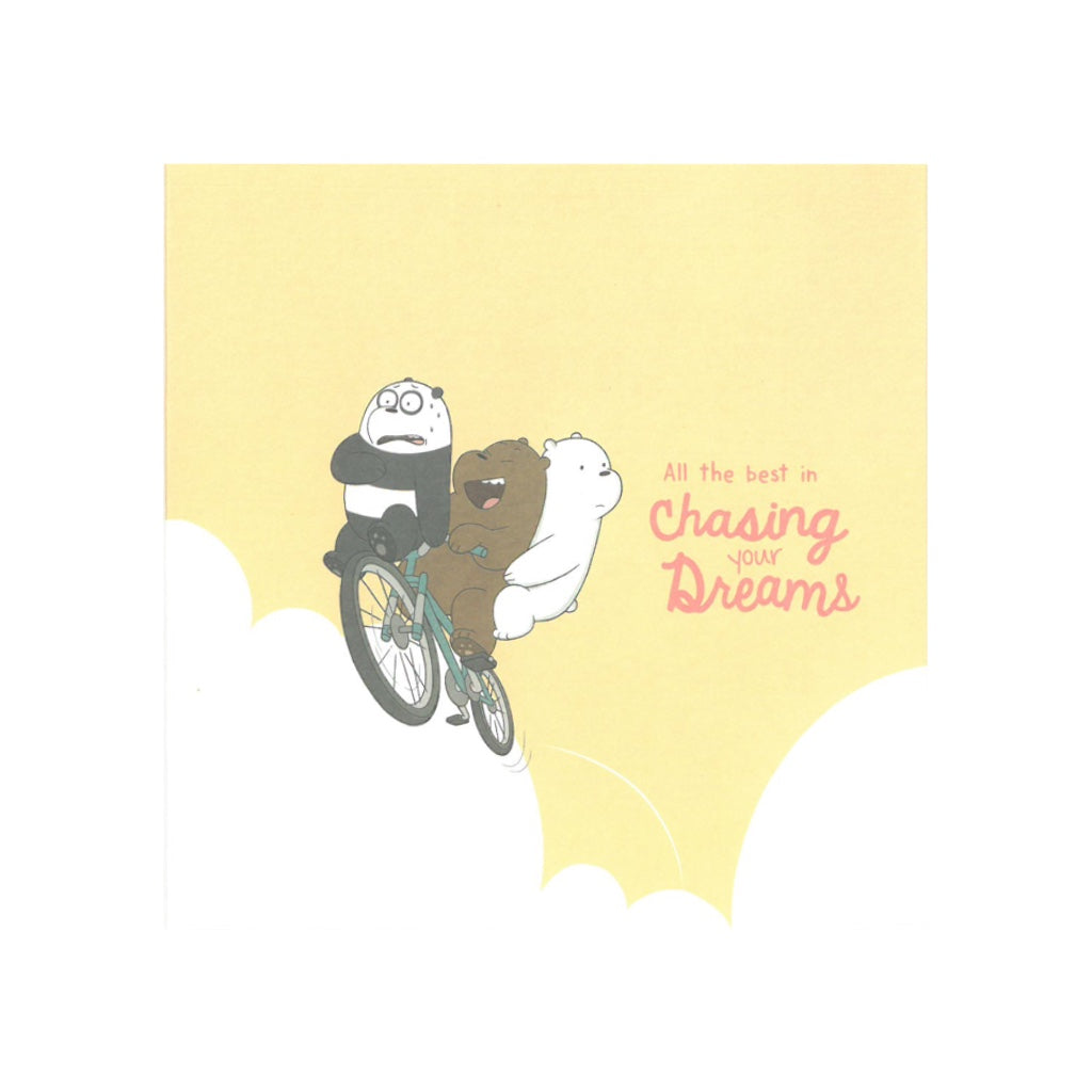 Chasing Dreams Greeting Card - The Bare Bears