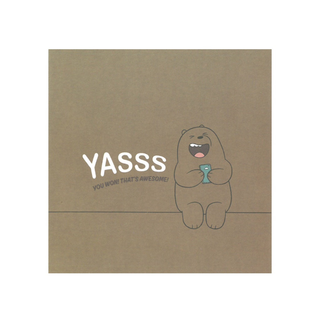 Yasss Greeting Card - The Bare Bears