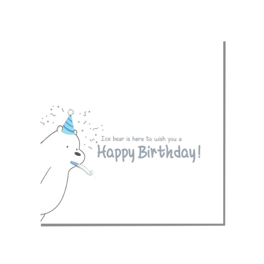 Ice Birthday Greeting Card - The Bare Bears