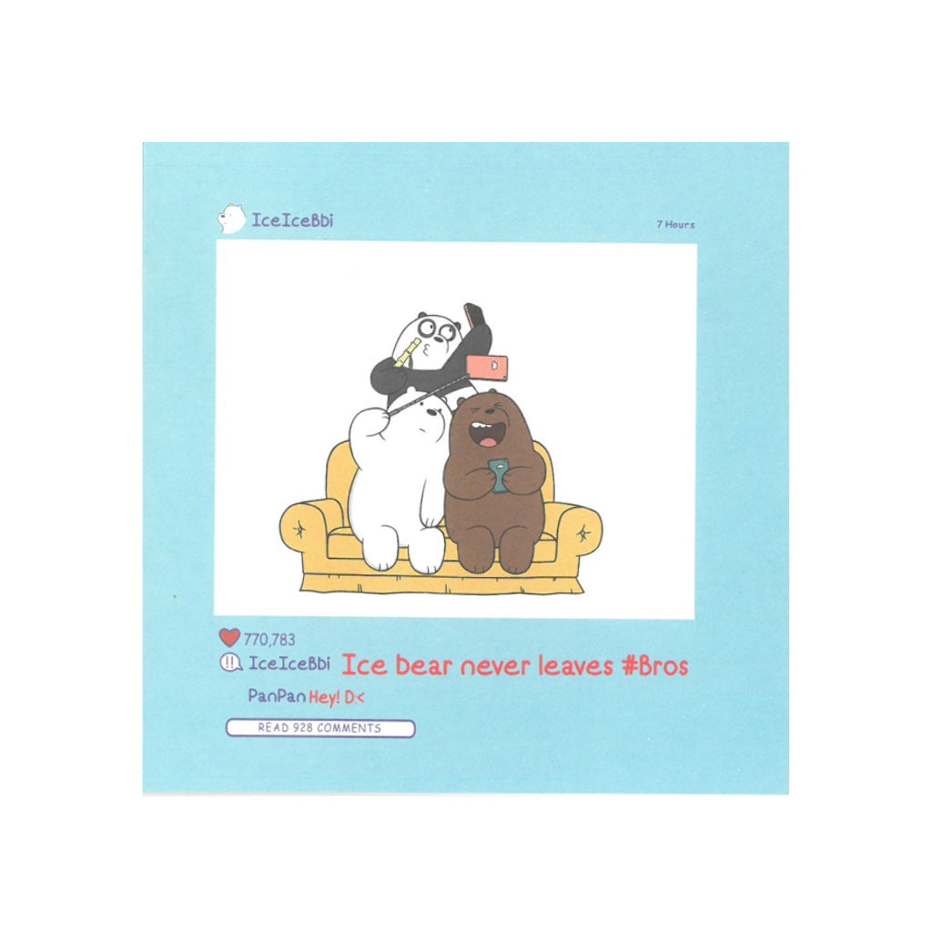 Never Leave Bros Greeting Card - The Bare Bears