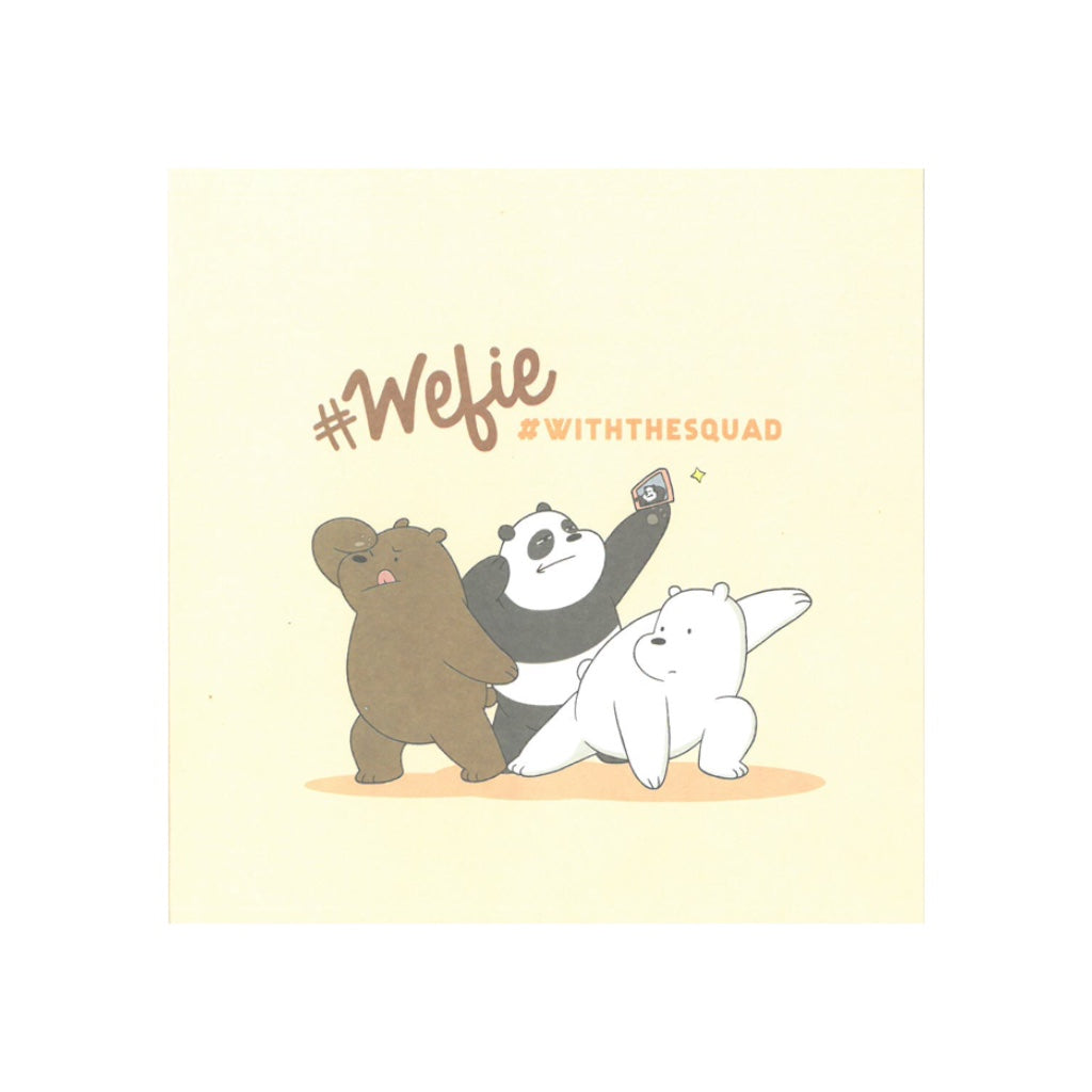 Wefie Greeting Card - The Bare Bears