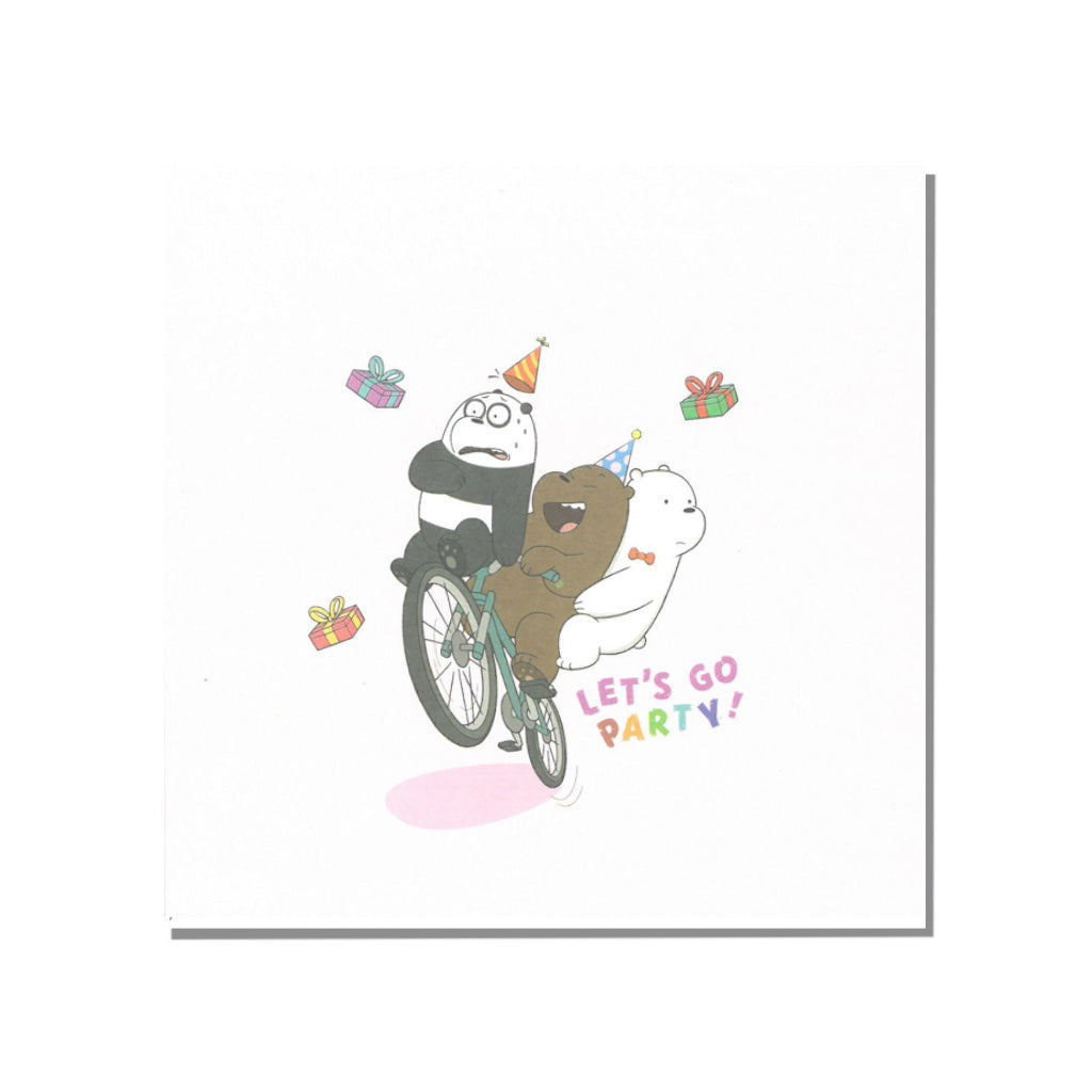 Let's Go Party Greeting Card - The Bare Bears